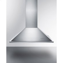 """36"""" Wide Island Range Hood In Stainless Steel, Made In Spain With Curved Canopy Style"""