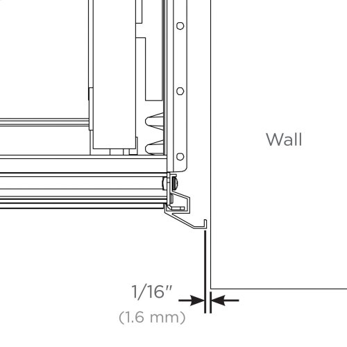 """Cartesian and Profiles 22-1/2"""" H Alcove Finishing Kit (required for Corner or Alcove Installation)"""