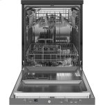 """GE ®24"""" Stainless Steel Interior Portable Dishwasher With Sanitize Cycle"""