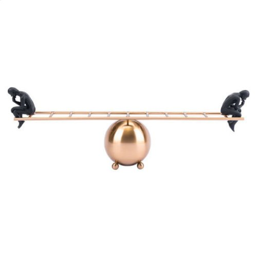 Balance Thinking Antique Brass