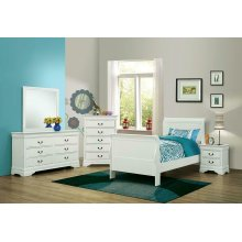 Louis Philippe Traditional White Twin Four-piece Set
