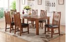 """84"""" Leg Table w/ 18"""" Butterfly Leaf and 6 Chairs Product Image"""