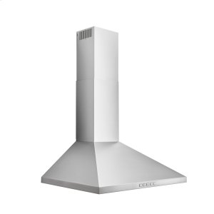 BroanBroan® 24-Inch Convertible Wall-Mount Pyramidal Chimney Range Hood, 450 MAX CFM, Stainless Steel