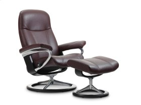Stressless Consul Small Signature Base Chair and Ottoman