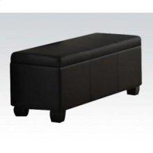 Black Pu Storage Bench