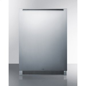 SummitOutdoor All-refrigerator In Complete Stainless Steel, With Digital Thermostat, LED Lighting, Door Storage, and Lock