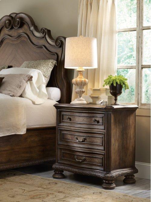 Bedroom Rhapsody Three Drawer Nightstand