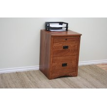 "O-M178 Mission Oak 2-Drawer Letter File Cabinet, 17 7/8""W x 17""D x 30""H"