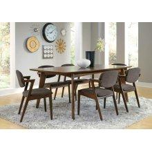 Malone Mid-century Modern Square Five-piece Dining Set