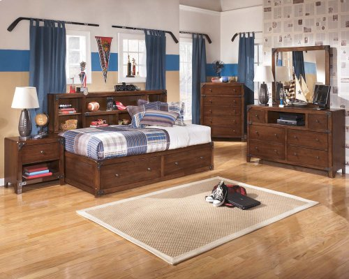 Ashley Full Bookcase w/ Storage Bed