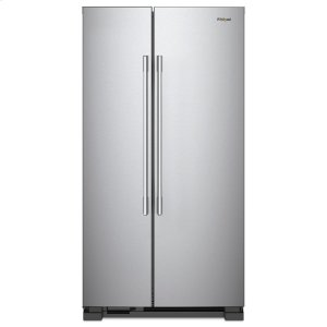 Whirlpool36-inch Wide Side-by-Side Refrigerator - 25 cu. ft. Fingerprint Resistant Stainless Steel