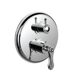 """1/2"""" Thermostatic Trim With Volume Control and 3-way Diverter in Polished Bronze/rose Gold"""