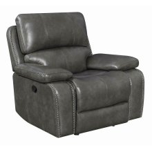 Ravenna Casual Charcoal Motion Glider Recliner