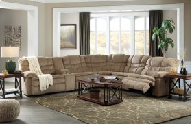 Zavion - Caramel 3 Piece Sectional