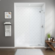 Frameless Shower Screen - 60-inch  American Standard - Silver Shine