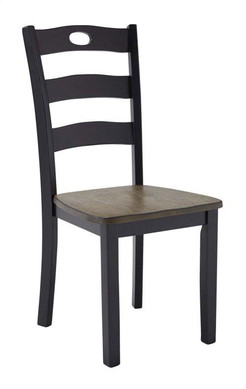 Froshburg - Grayish Brown/Black Set Of 2 Dining Room Chairs
