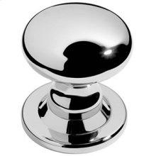 "Chrome Plate Centre door knob, 3 7/16"" rose diameter"