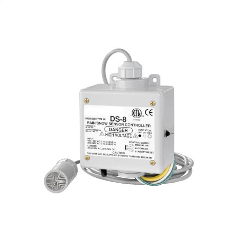 Snow/Ice Melt All-In-One Control Unit, for roofs w/ 10ft remote gutter sensor, 115/230VAC, 30 amps