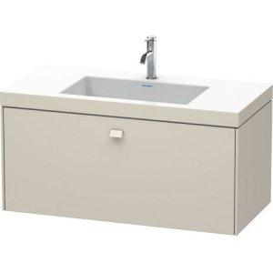 Furniture Washbasin C-bonded With Vanity Wall-mounted, Taupe Matt (decor)