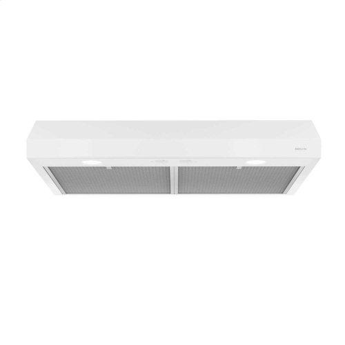 Glacier 36-Inch 250 CFM White Range Hood with light