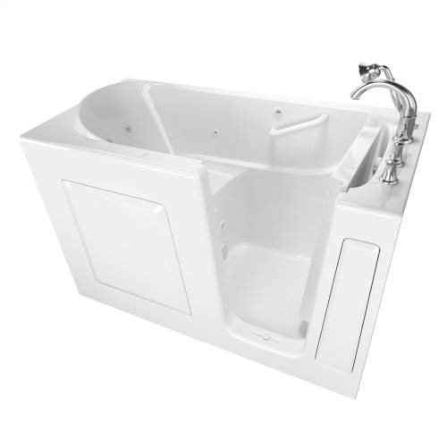 Gelcoat Value Series 30 x 60 Inch Walk-in Tub with Whirlpool System  Right Drain  American Standard - White