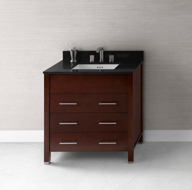 "Kali 31"" Bathroom Vanity Base Cabinet in Dark Cherry"