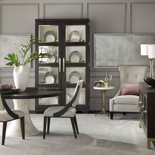 Decorage Round Dining Table in Cerused Mink (380)