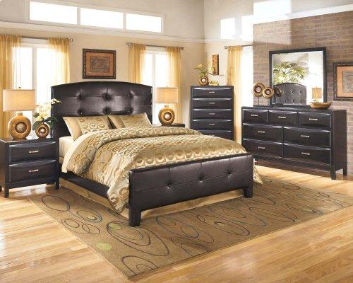Kira - Almost Black 2 Piece Bedroom Set