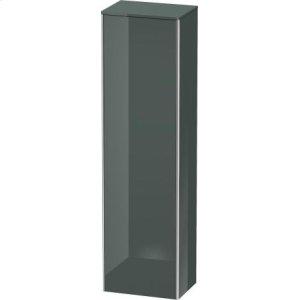 Tall Cabinet, Dolomiti Gray High Gloss Lacquer