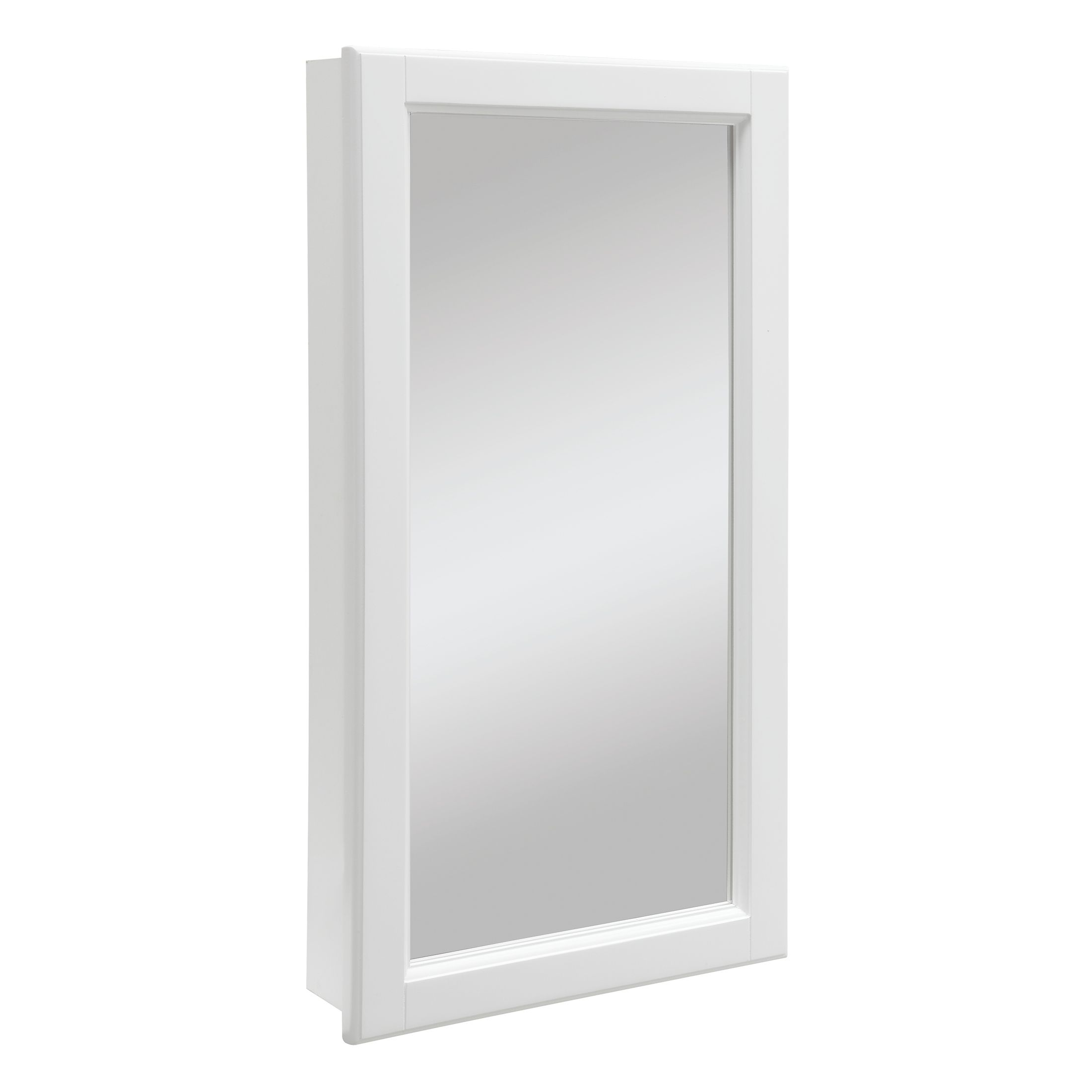 """Wyndham 1-Door Medicine Cabinet Mirror 16"""", White #545111"""