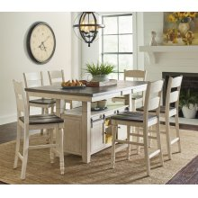 Madison County High/low Table With 4 Stools - Vintage White