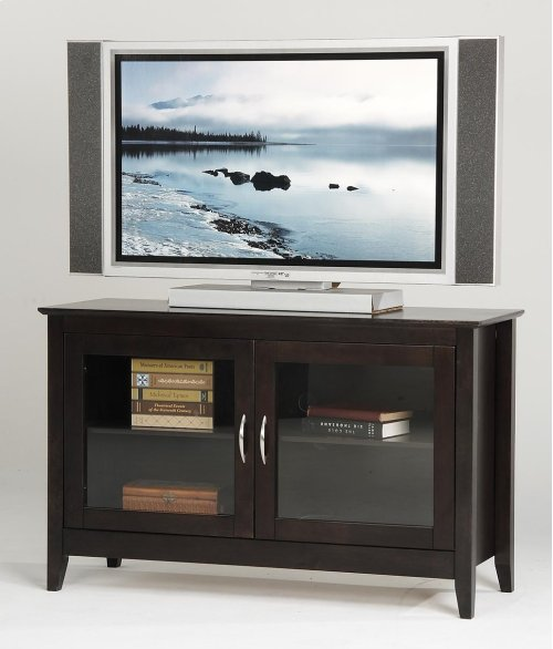 48 TV Stand with Glass Doors