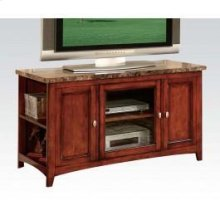 Cherry TV Stand W/faux Marble