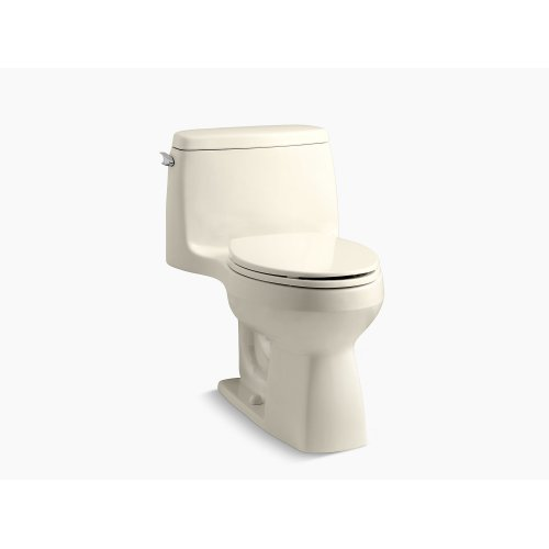 Almond Comfort Height One-piece Compact Elongated 1.28 Gpf Toilet With Aquapiston Flushing Technology and Left-hand Trip Lever
