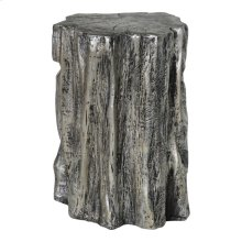 Trunk Stool Antique Silver