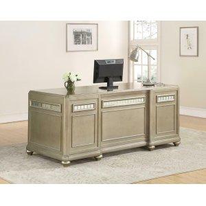 CoasterRitzville Metallic Platinum File Cabinet