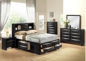 Ireland Black Queen Bed