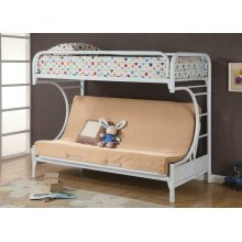 Atticus Twin-over-full White Bunk Bed