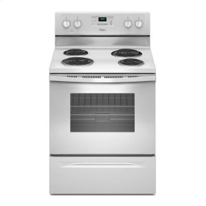 4.8 Cu. Ft. Freestanding Electric Range with AccuBake® System - WHITE