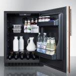 Summit Built-in Undercounter ADA Compliant All-refrigerator With Panel-ready Door, Black Cabinet, Door Storage, and Digital Controls