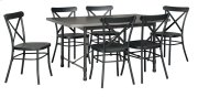 Minnona - Multi 7 Piece Dining Room Set Product Image