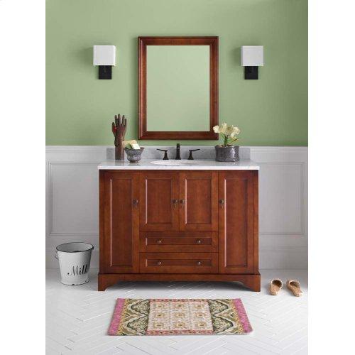 "Milano 48"" Bathroom Vanity Cabinet Base in Colonial Cherry"