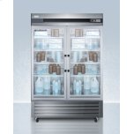 Summit Performance Series Pharma-lab 49 CU.FT. All-refrigerator In Stainless Steel With Glass Doors
