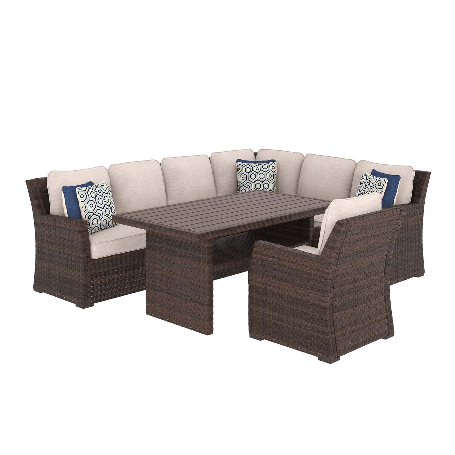 Merveilleux Salceda   Beige/Brown 2 Piece Patio Set