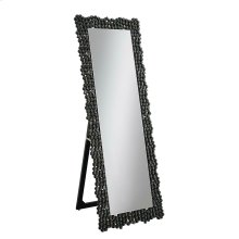 Silver and Smoke Grey Standing Cheval Mirror