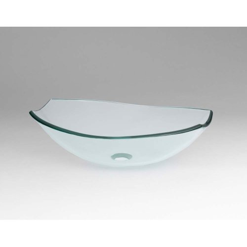 Tael Tempered Glass Vessel Bathroom Sink in Clear