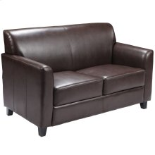 Brown Leather Loveseat