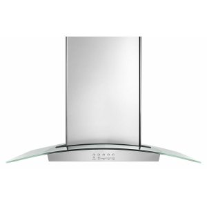"Amana30"" Modern Glass Wall Mount Range Hood - Stainless Steel"