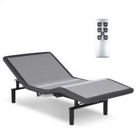 Falcon 2.0+ Low-Profile Adjustable Bed Base with Simultaneous Movement and Under-Bed Lighting, Charcoal Gray, Twin XL