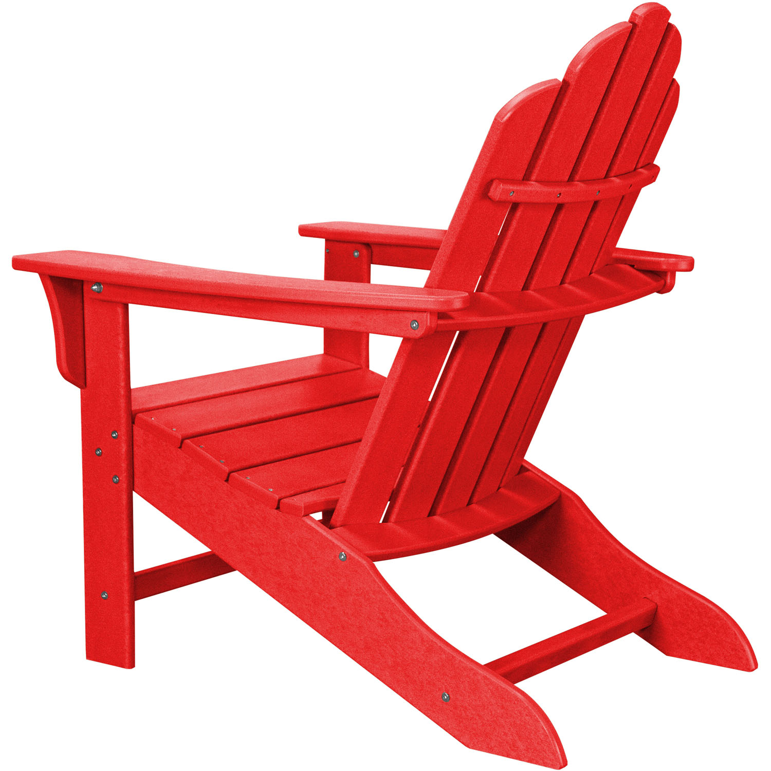 All Weather Contoured Adirondack Chair   Sunset Red
